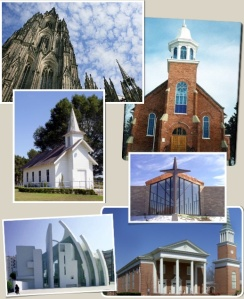 church front collage